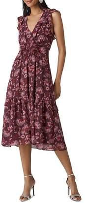 Whistles Pitti-Print Midi Dress