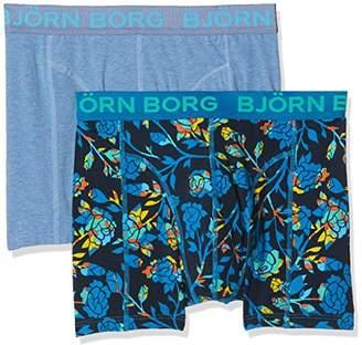 Bjorn Borg Men s 2P Shorts Bb Floral Boxer (Mykonos Blue) 88c94baa99786
