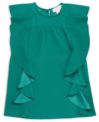 Kate Spade Girls' Cascading Ruffles Dress - Little Kid