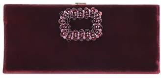 Roger Vivier Pilgrim Small embellished suede clutch