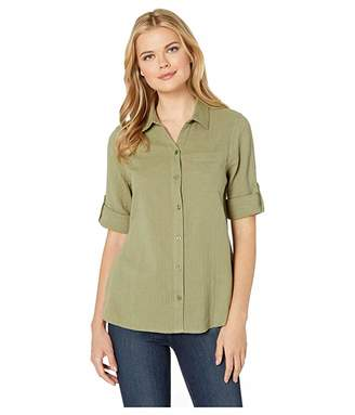 4033ed7d9483a Button Up Shirt Women's With Roll Up Sleeves - ShopStyle