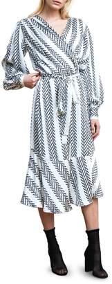 Birgitte Herskind Printed Tie-Front Midi Dress