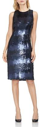 Vince Camuto Sleeveless Ombré Sequined Dress