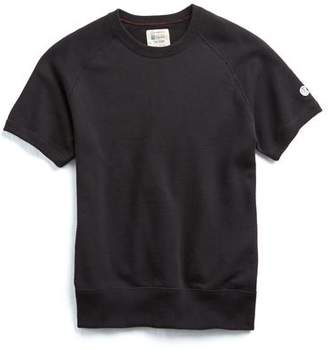 Todd Snyder + Champion Short Sleeve Sweatshirt in Black