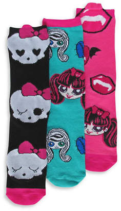 Disney Monster High Three Pair Sock Set