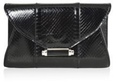 Judith Leiber Mini Baker Metallic Snakeskin Envelope Clutch $850 thestylecure.com