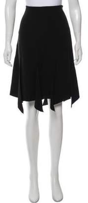Armani Collezioni Silk Knee-Length Skirt Black Silk Knee-Length Skirt