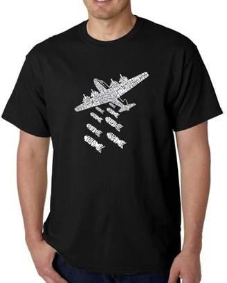 Pop Culture Los Angeles Pop Art Men's T-Shirt - Drop Beats Not Bombs