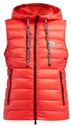 Moncler Sucrette Quilted Nylon Gilet - Womens - Red