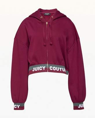 Juicy Couture Jacquard Juicy Fleece Hooded Jacket