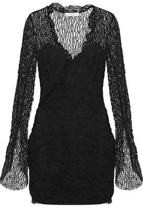 IRO Lojha Cotton-Blend Lace Mini Dress