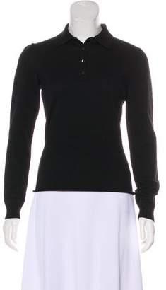 Alaia Long Sleeve Polo Top