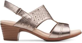 Clarks Collection By Valarie Mindi Leather Sandals