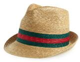 Gucci Straw Trilby Hat