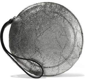 Jerome Dreyfuss Metallic Cracked-Leather Clutch