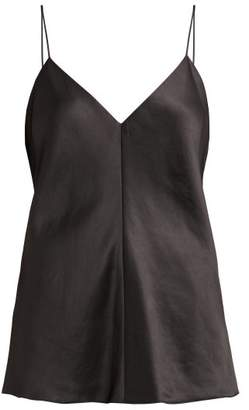 The Row Eda Satin Cami Top - Womens - Black