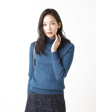 NEWYORKER women's 【秋新作】【手洗い可能】DRESS KNIT/ワイドリブハイネックニットプルオーバー