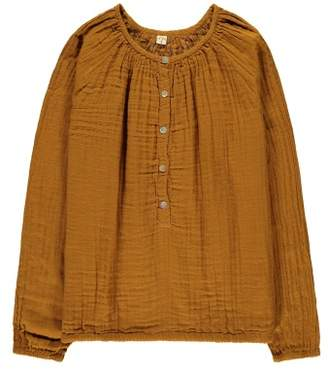Numero 74 Naia Long Sleeve Blouse - Teen and Women's Collection Mustard