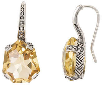 Stephen Dweck Galactical Drop Earrings, Champagne Quartz