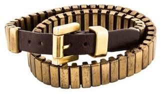 Michael Kors Heritage Double Wrap Bracelet Brown Michael Kors Heritage Double Wrap Bracelet