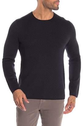 Theory Crew Neck Printed Merino Wool Sweater