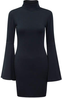 Bobi Los Angeles Turtleneck Bell-Sleeve Dress