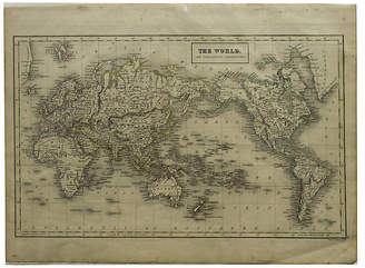 One Kings Lane Vintage Map of the World