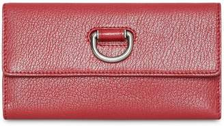 Burberry D-ring Grainy Leather Continental Wallet