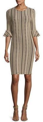 Shoshanna Bluxome Striped Stretch Jersey Dress, Black $395 thestylecure.com