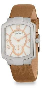 Philip Stein Teslar Classic Square Leather Strap Watch