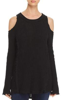 Elan International Cold-Shoulder Sweater