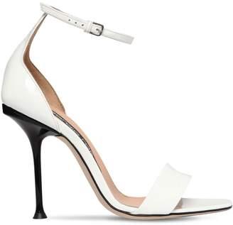 Sergio Rossi 105mm Patent Leather Sandals