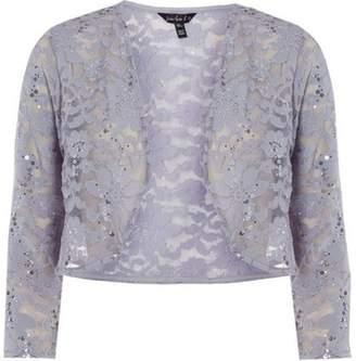 Dorothy Perkins Womens **Scarlett B Silver Lace Jacket