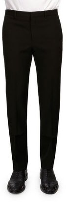 Givenchy Slim-Fit Wool Trousers, Black $1,020 thestylecure.com