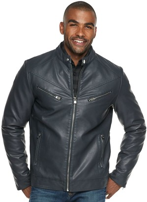 X-Ray Xray Men's XRAY Slim-Fit Faux-Leather Moto Jacket
