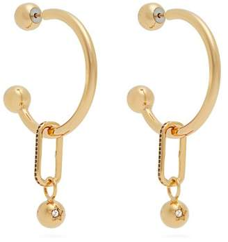 Burberry - Hoop And Crystal Embellished Pendant Earrings - Womens - Gold