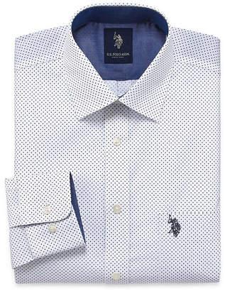 U.S. Polo Assn. USPA Long Sleeve Woven Pattern Dress Shirt - Slim