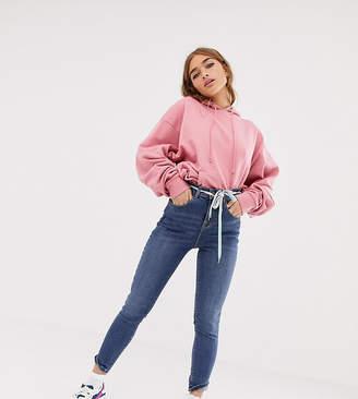 MiN New York Collusion COLLUSION Petite x001 skinny jeans in wash blue