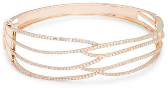 Effy Fine Jewelry Diamond & 14K Rose Gold Bangle
