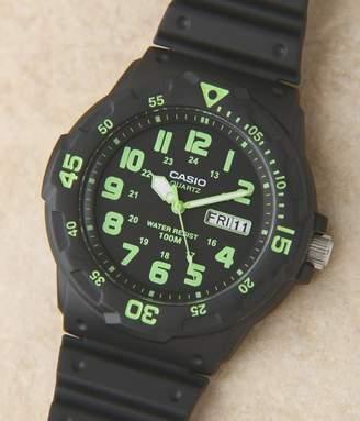 Casio (カシオ) - ユニセックスダイバータイプウォッチ[MRW-200H-3B](D・ブラック×グリーン)