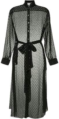 Osman dotted mesh dress