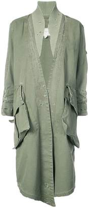 Greg Lauren distressed detail coat