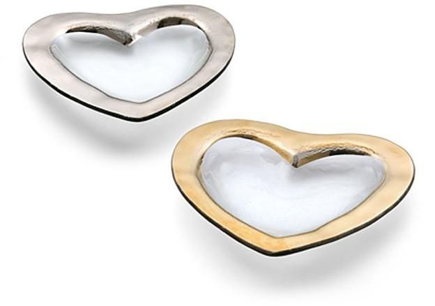 Annieglass Roman Antique Heart Bowls