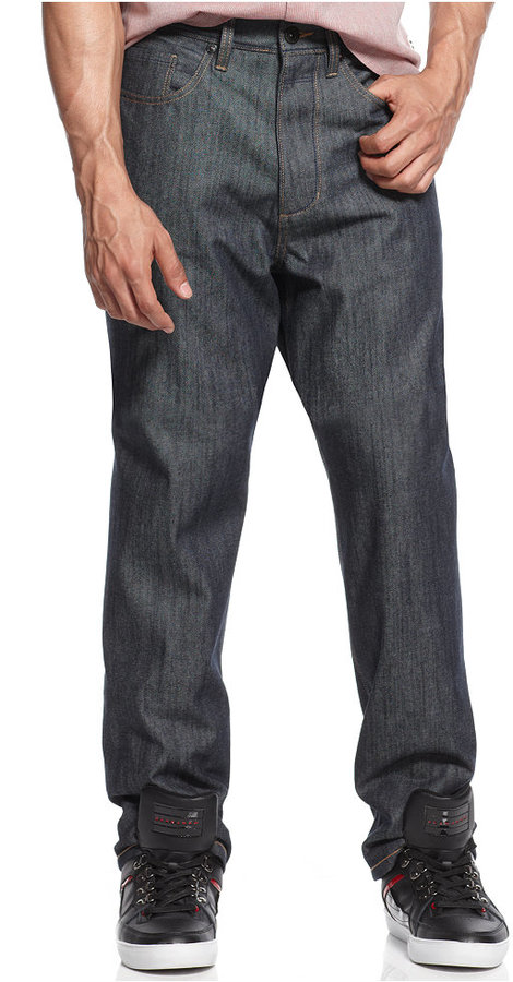 Sean John Garvey Raw Indigo Jeans