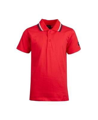 Paul And Shark Junior Tipped Jersey Polo Shirt Colour: NAVY, Size: Age