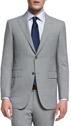 Ermenegildo Zegna Torino Peak-Lapel High-Performance Wool Suit, Light Gray $2,995 thestylecure.com
