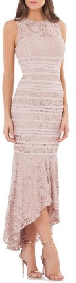 Women's Js Collections Lace High/low Gown $298 thestylecure.com