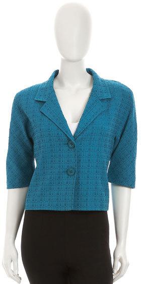 Lafayette 148 New York Cropped Tweed Jacket