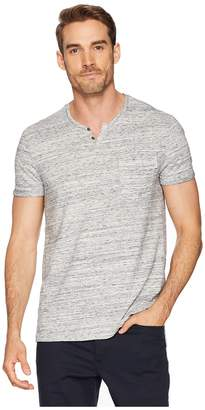 Calvin Klein Jeans Short Sleeve Streak Heather Slit Neck Tee with Pocket Men's Short Sleeve Knit