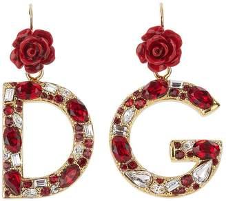 Dolce & Gabbana Logo Pendant Earrings
